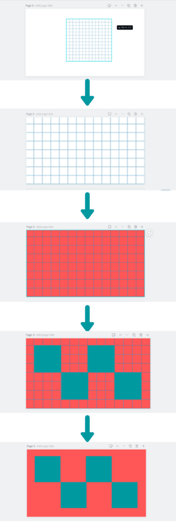 how to add gridlines in Canva