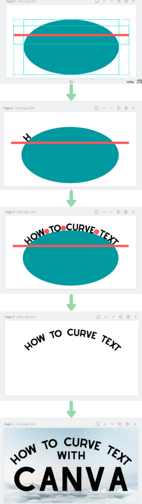 how to curve text with Canva