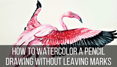 how to watercolor pencil drawings
