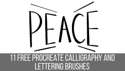 free Procreate calligraphy brushes