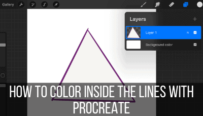 how to color inside the lines with procreate