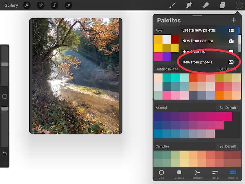 automatically create Procreate color palettes