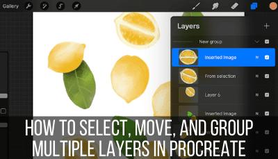 procreate select multiple layers