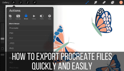 how to export procreate files