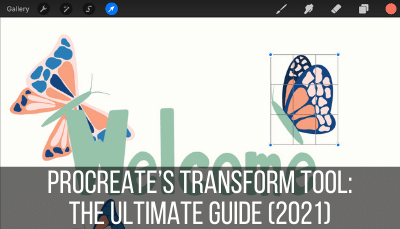 how to use Procreate's transform tool