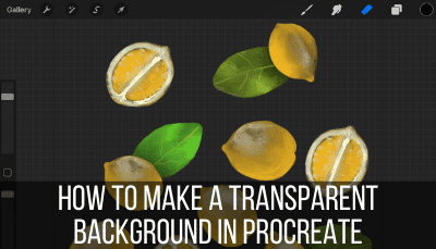 how to make a transparent background in procreate