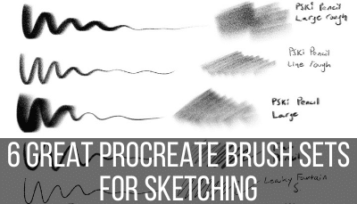 procreate sketching brushes