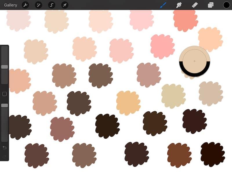 procreate color palettes eyedropper tool