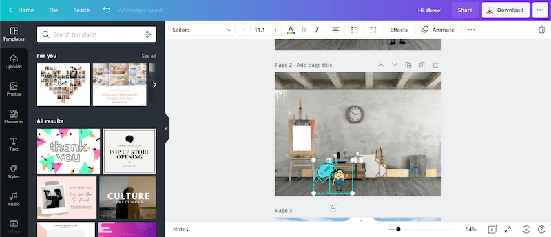 canva copying and pasting