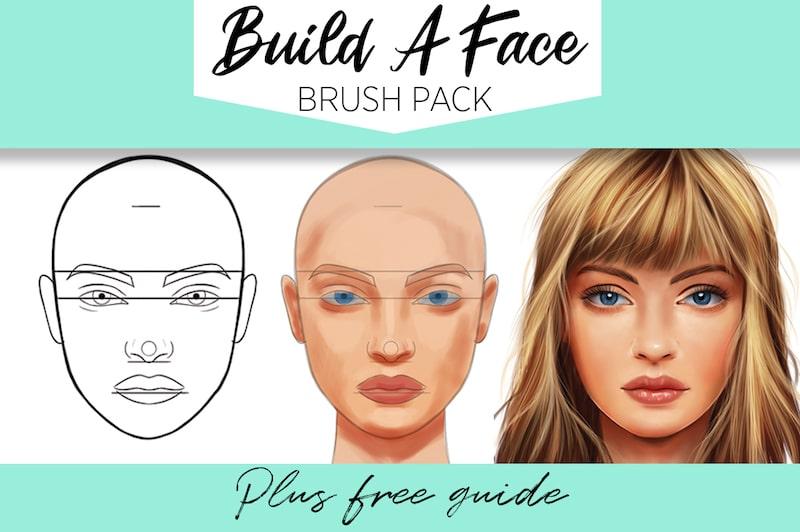 build a face brush set