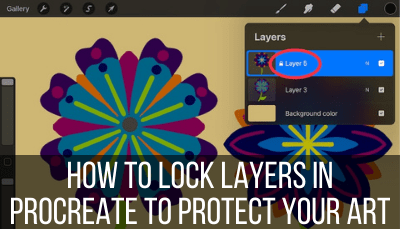 lock layers in Procreate