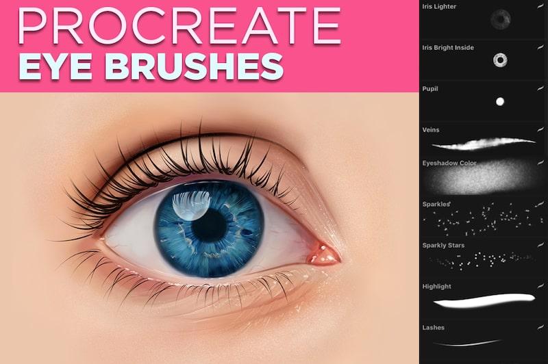 procreate eye brushes