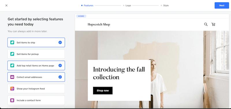 default square site design