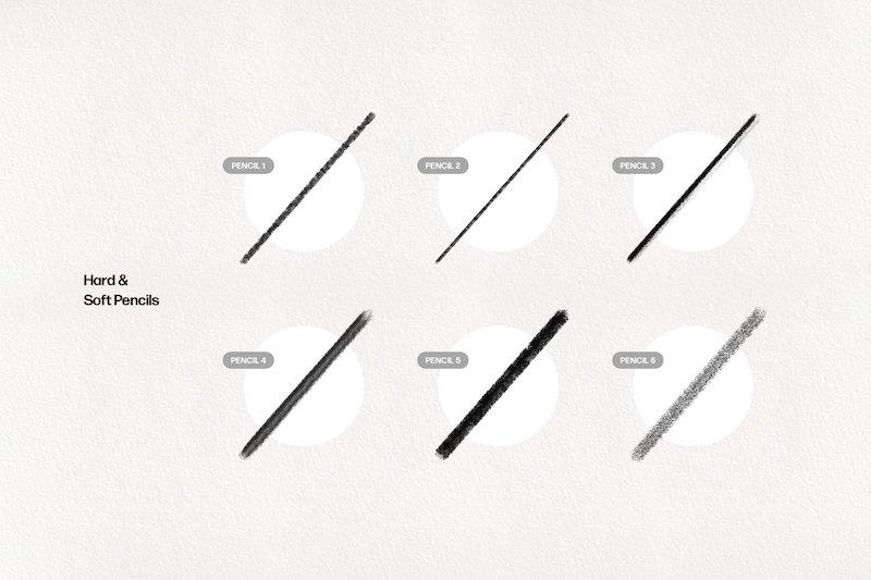Basic Pencil Procreate Brushes Pack