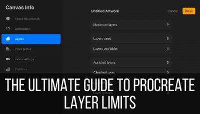 procreate layer limits