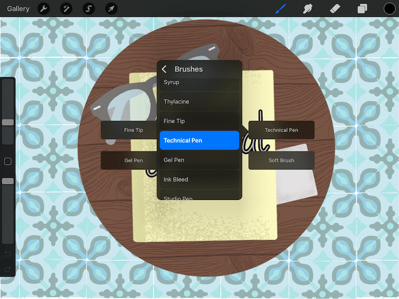 Assign actions to the QuickMenu in Procreate