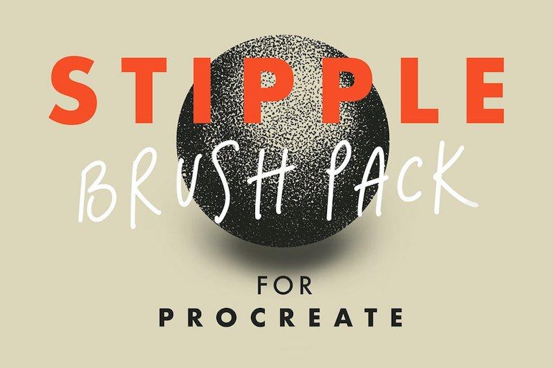 Free Stipple Brush Pack for Procreate