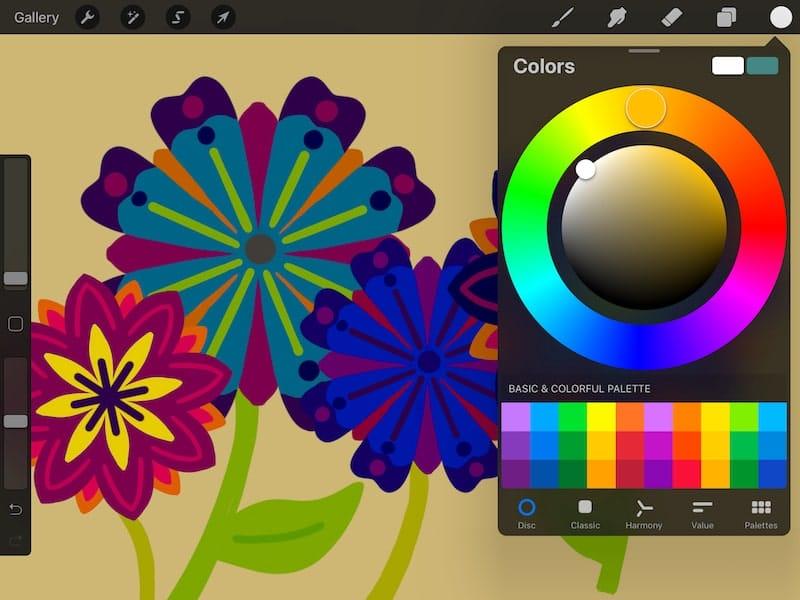 procreate color wheel