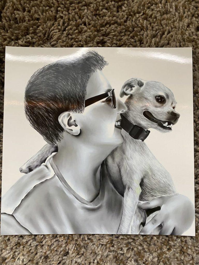 printing black and white procreate art