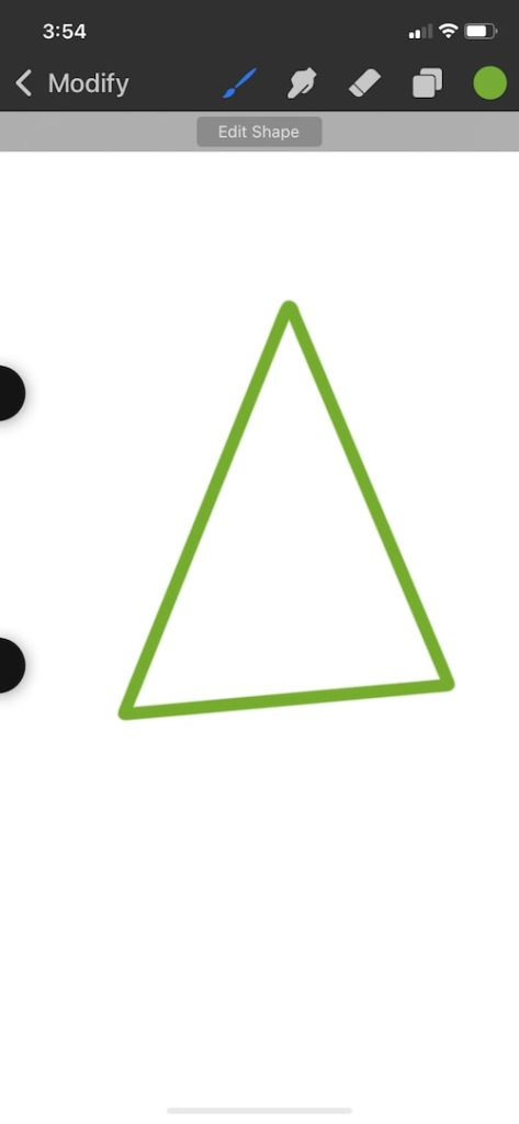 Procreate Pocket quick shape