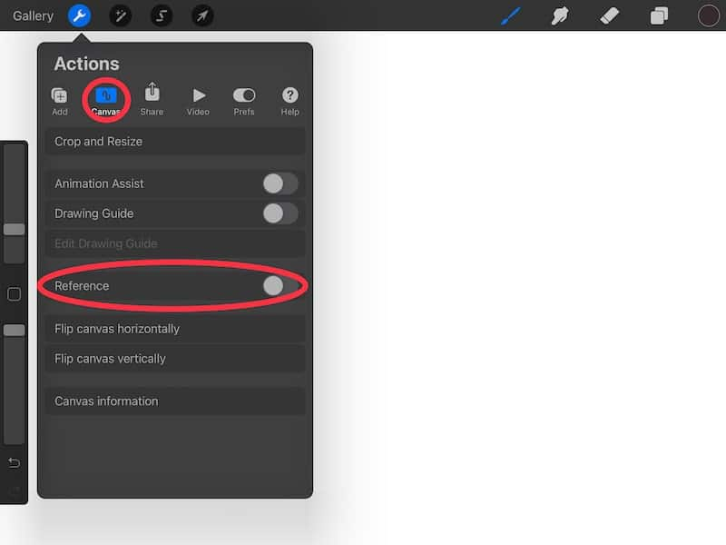 Procreate reference feature