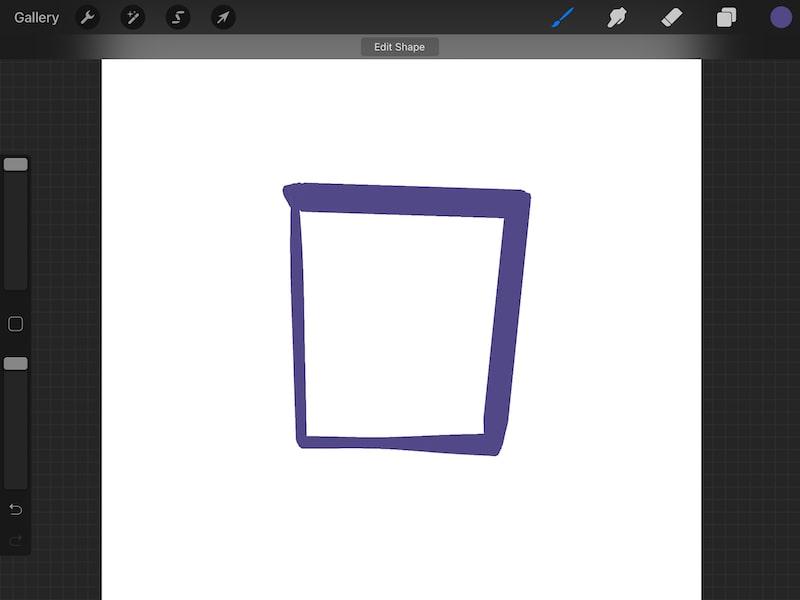 procreate quick shape square taper brush